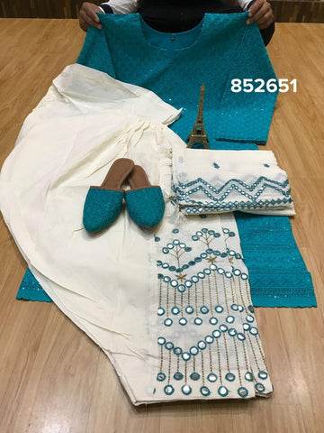 Prachi Teal Silk Straight Suits Churidar Latest Indian Suit Fashion