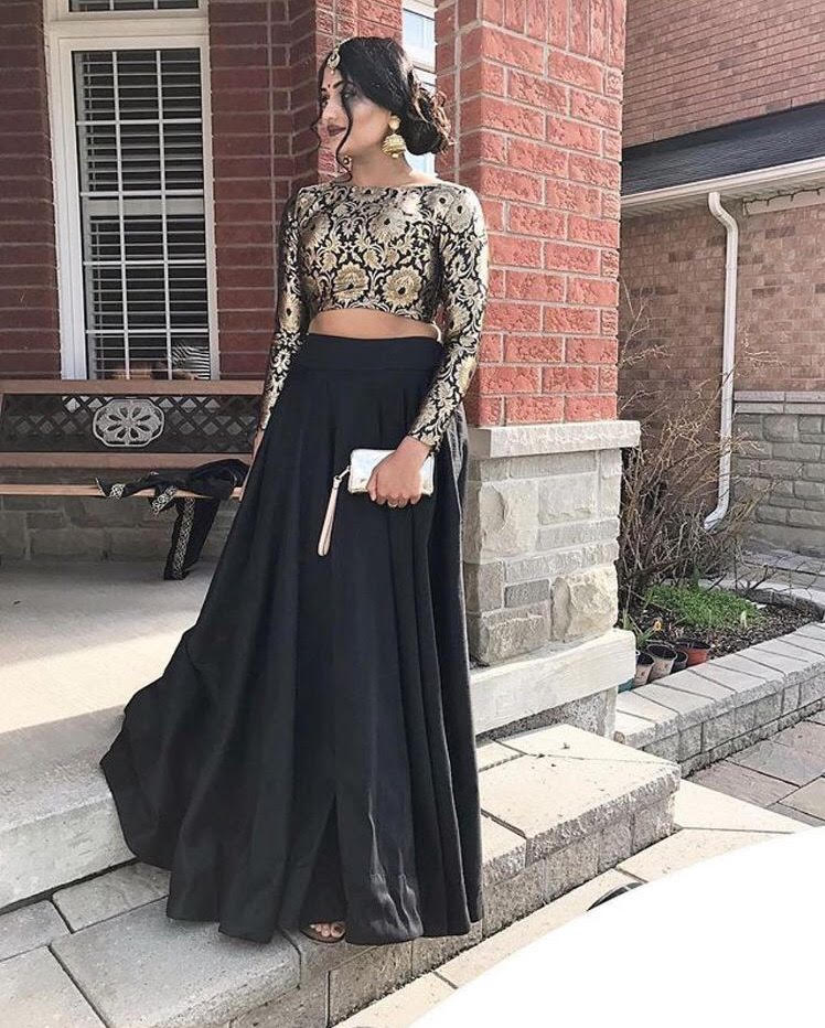 Black Lehenga Choli Designs For Wedding Online