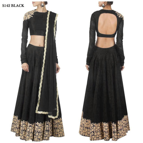 Black New Indian Lehenga Designs ,Indian Dresses