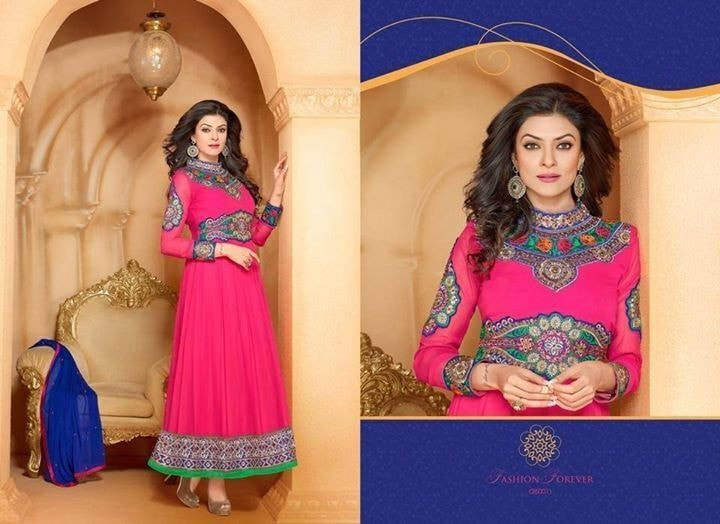 Sushmita Pink Anarkali Suits Online ,Indian Dresses