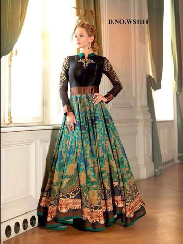 Gorgeous Bhagalpuri Bollywood Indo Western Gown ,Indian Dresses - 1