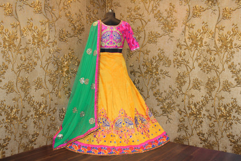 Yellow And Pink Silk Online Shopping For Lehenga Choli