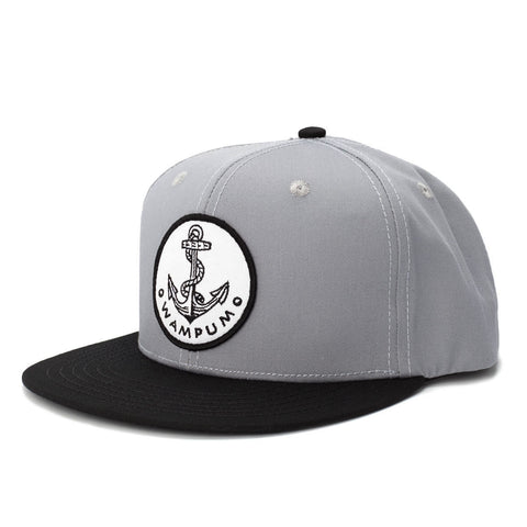 Gray & Black Anchor Snapback Hat