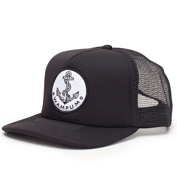Anchor Trucker Hat Black