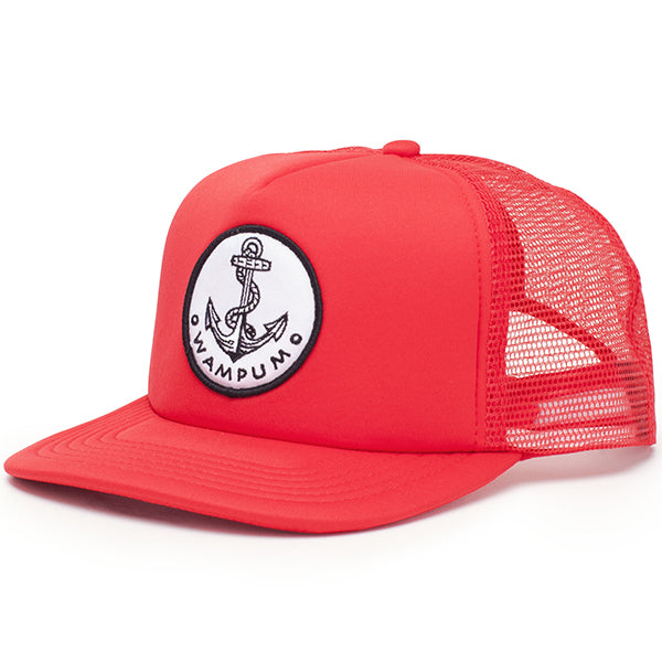 Anchor Trucker Hat Red