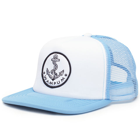 Anchor Trucker Hat Light Blue