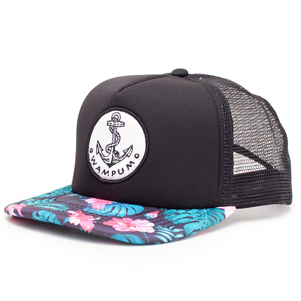 Hawaiian Floral Trucker Hat