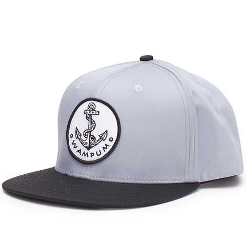 Anchor Snapback Hat Gray And Black