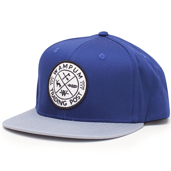 Trading Post Snapback Hat Navy And Gray