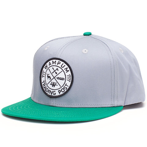 Trading Post Snapback Hat Gray And Green
