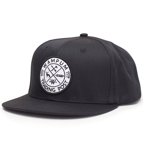 Trading Post Snapback Hat Black