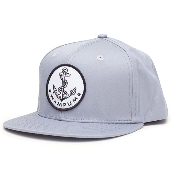 Anchor Snapback Hat Gray