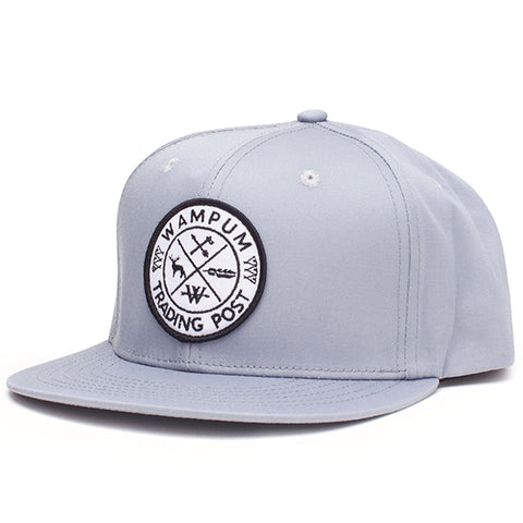 Trading Post Snapback Hat Gray