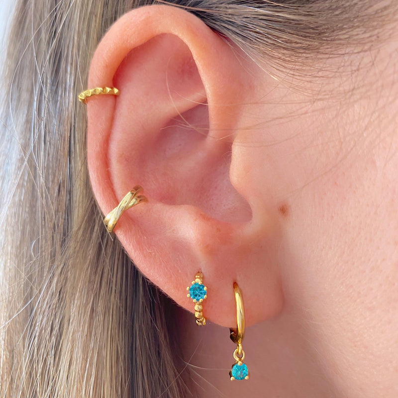 Earcuff Poinsettia Gold