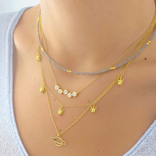 COLLAR PLANETE GOLD