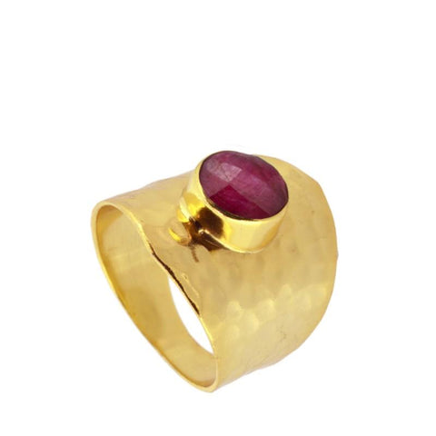 ANILLO FERENC ROUGE GOLD