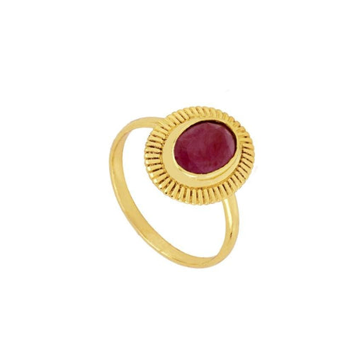 ANILLO USHA ROUGE GOLD