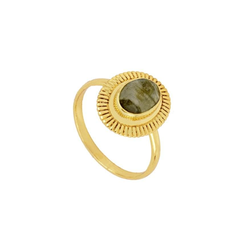 Anillo Usha Gray Gold