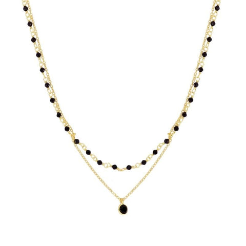 COLLAR LALASA NOIR GOLD