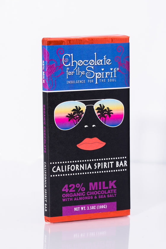 Another Winner! 42% Milk Chocolate California Spirit Bar with Almonds