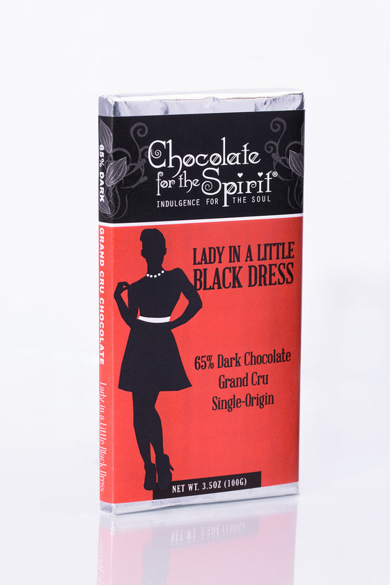 Lady in a Little Black Dress - 65% Dark Chocolate Bar (Grand Cru, single-origin Venezuela)