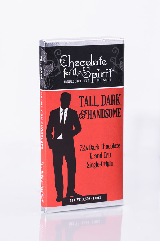 Tall, Dark and Handsome - 72% Dark Chocolate Bar (Grand Cru, single-origin Ecuador)