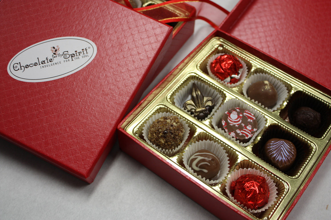 Artisan Chocolate Truffles and Bonbons 9 Piece