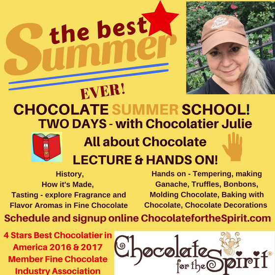 Chocolate Summer School - July 8 and July 9