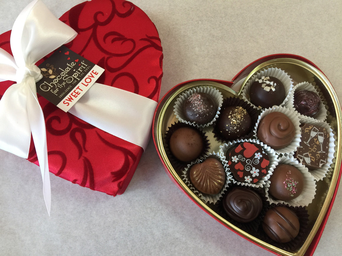 Gourmet Assortment - Red Satin Heart