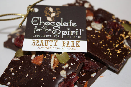72% Dark Chocolate Beauty Bark - Real Gold