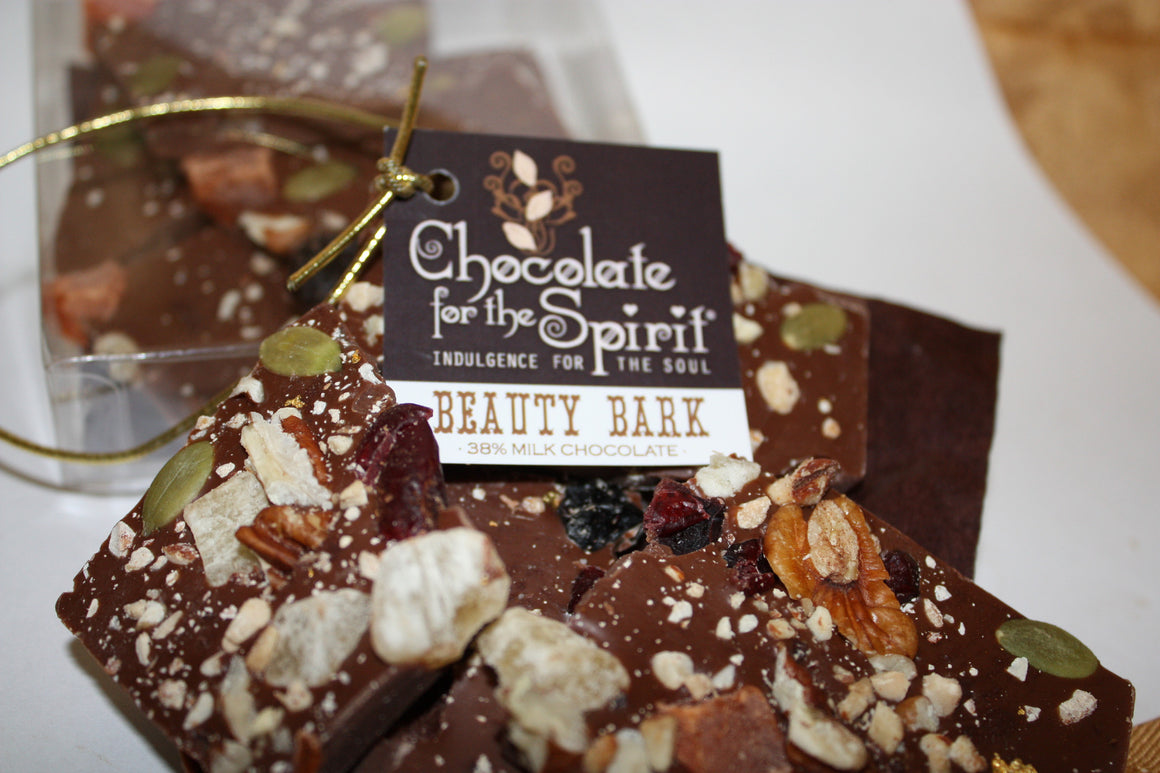 38% Milk Chocolate Beauty Bark - Real Gold
