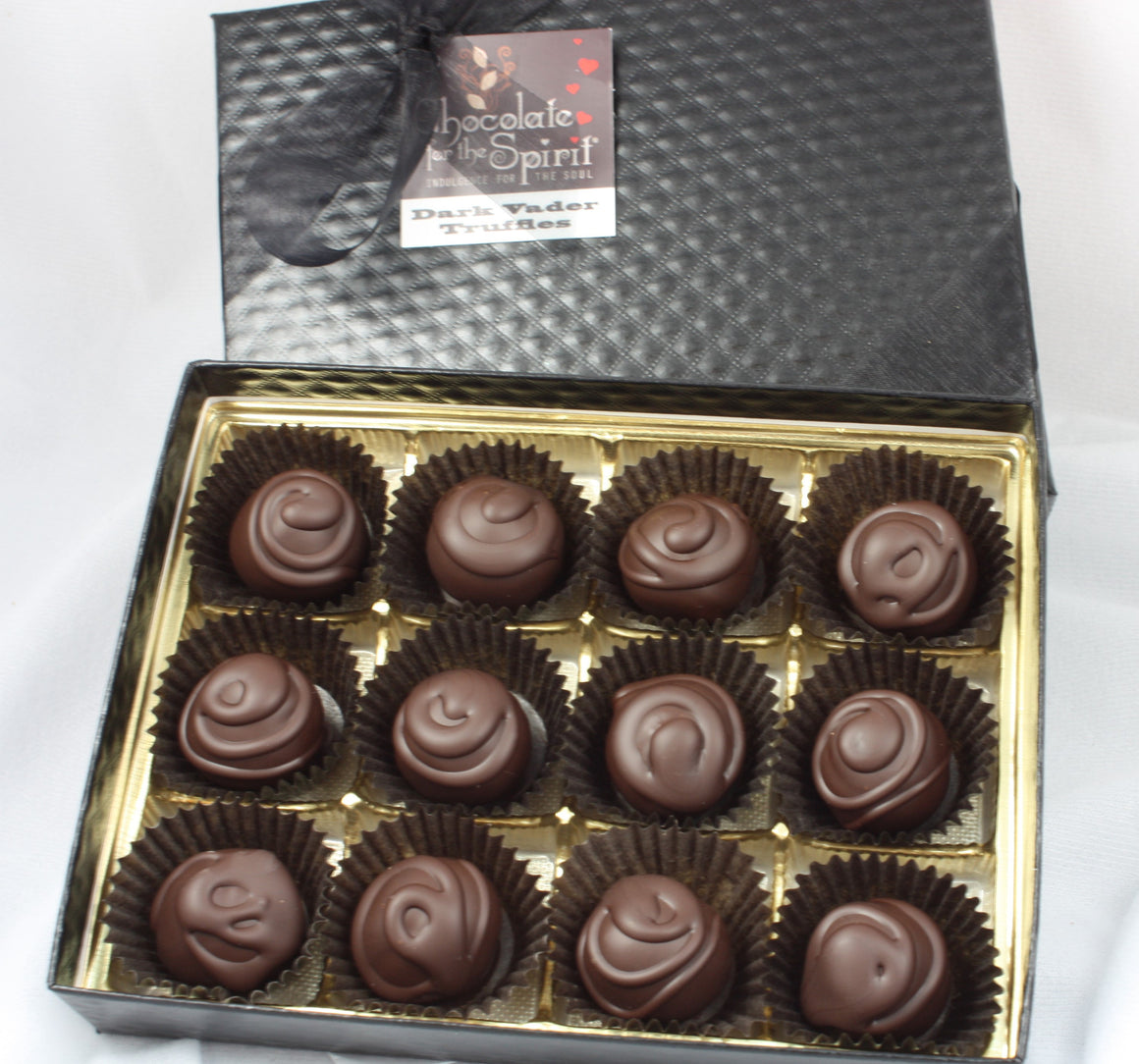 Dozen 72% Dark Chocolate Trufles