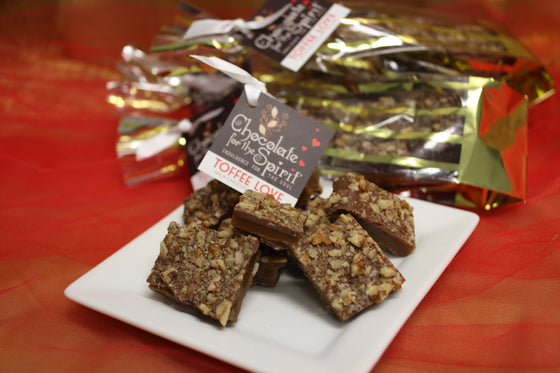 New! Milk Chocolate Maple/Pecan Toffee Love