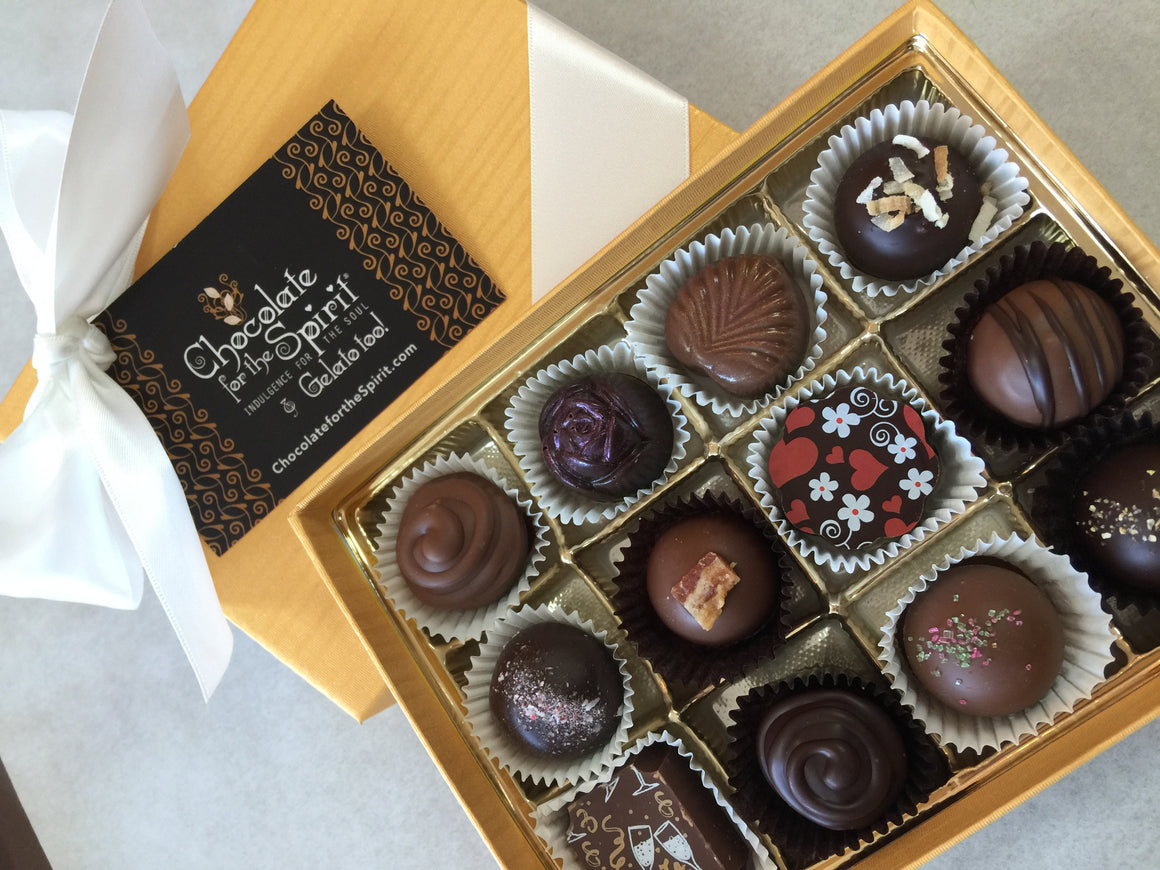 Artisan Chocolate 12 Piece Gift Box