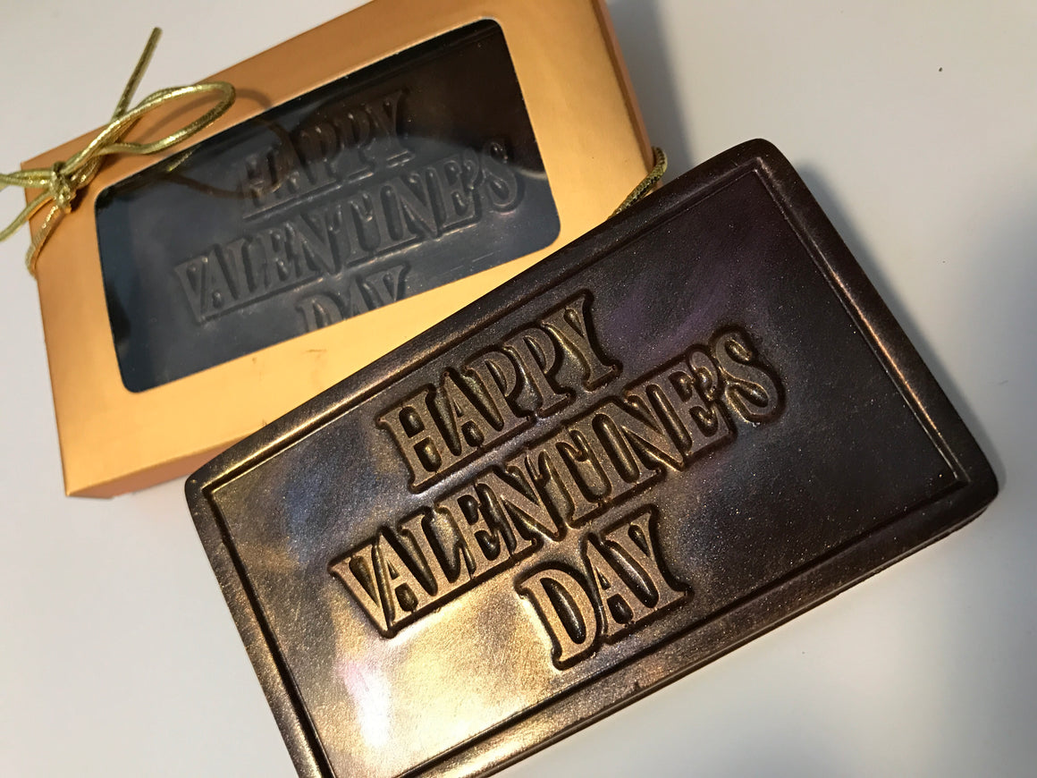 Happy Valentines Day Bar - Dark, Milk or White Chocolate