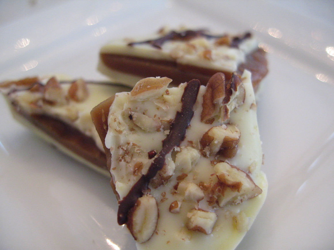 White Chocolate Orange Pecan Toffee * International Winner!
