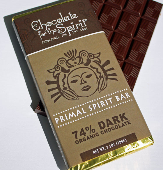 74% Dark Chocolate Primal Spirit Bar