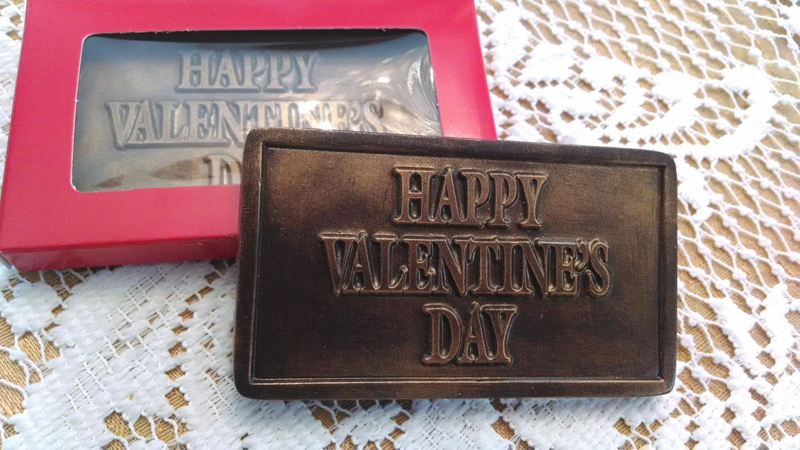 Happy Valentines Day Bar - 60% Dark Chocolate