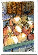"Miniature Original Painting - ""Pumpkins for Sale"""