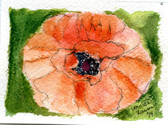 "Miniature Original Painting - ""Poppy"""
