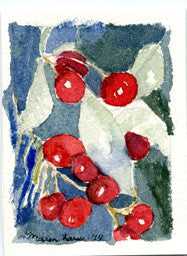 "Miniature Original Painting - ""Door County Cherries"""
