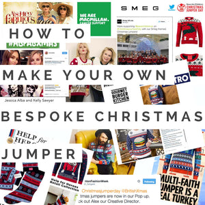 how to make your own bespoke christmas jumper