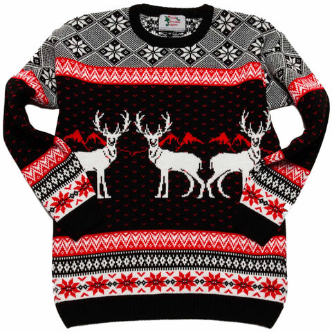 kids reindeer christmas jumper