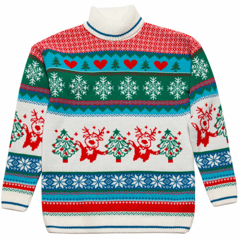 girls roll neck winter Christmas jumper