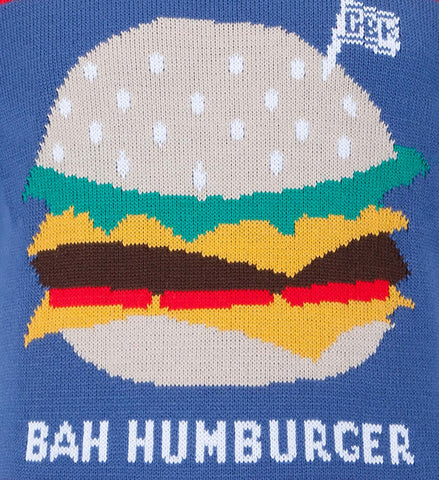 Gourmet burger kitchen Christmas jumper jacquard example