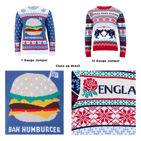 what do knitwear gauges mean, how to design a bespoke Christmas jumper
