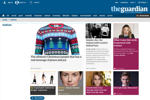 The Gaurdian newspaper article on the multicultural christmas jumper