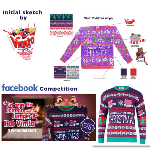 how to make a custom christmas jumper vimto christmas jumper sketch