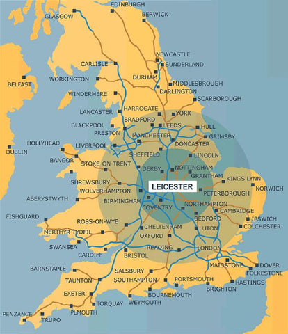 map of leicestershire british christmas jumpers knitwear manufacture