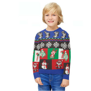 Boys Little Boxes Xmas Jumper Sweater
